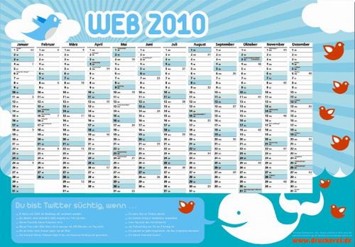 Kalender 2010 Twitter